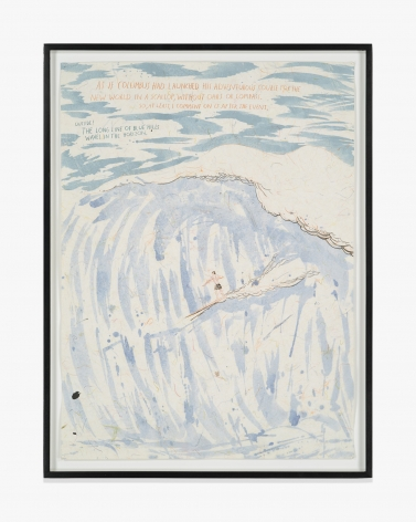 Raymond Pettibon No Title (As if Columbus…)