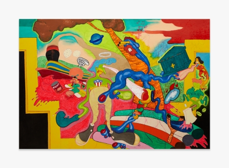 Peter Saul Homage to Thomas Hart Benton
