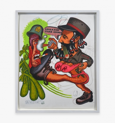 Peter Saul, Castro, Disguised as a Woman Destroys American Invader, 1994