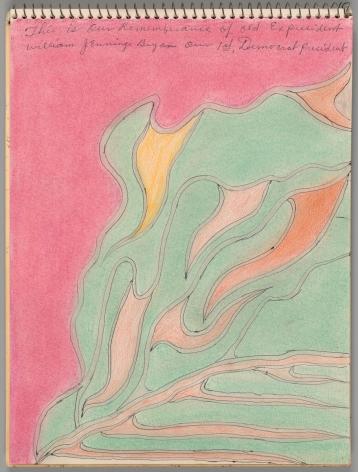 Drawing by Joseph Elmer Yoakum titled Workbook B from 1972