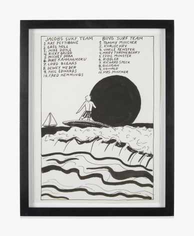 Raymond Pettibon No Title (Jacob's surf team…)