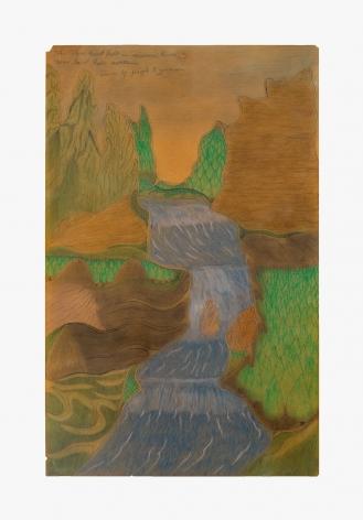 "Drawing by Joseph Yoakum titled ""The Three Great Falls in Missouri River Near Great Falls Montana"" no date"
