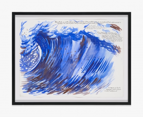 Raymond Pettibon No Title (Man stands as…)