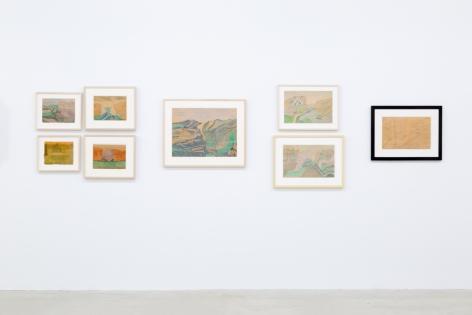 Installation view of Joseph Elmer Yoakum, Venus Over Manhattan, New York, 2019