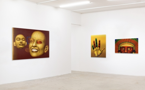 Installation view of Ed Paschke.