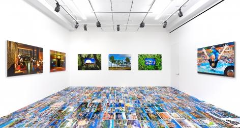 Installation view of Michel Houellebecq: French Bashing, New York, Venus Over Manhattan, 2017