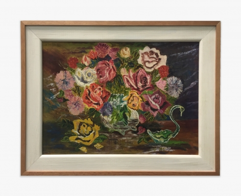Gladys Johnston Flowers and Glass Swan, n.d.