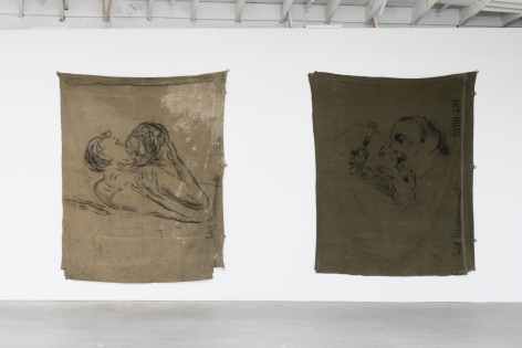 Installation view of Adel Abdessemed: From Here to Eternity, Los Angeles, Venus Over Los Angeles, 2015