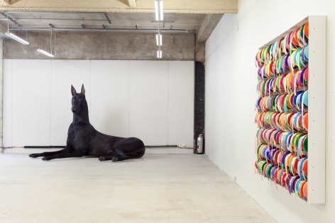 Peter Coffin Untitled (Dog) (Ribbons)