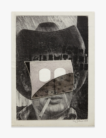 Ray Johnson Untitled (1958 James Dean with Outlet Mask)