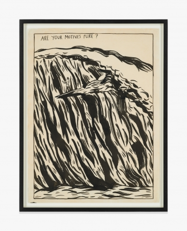 Raymond Pettibon No Title (Are your motives…)