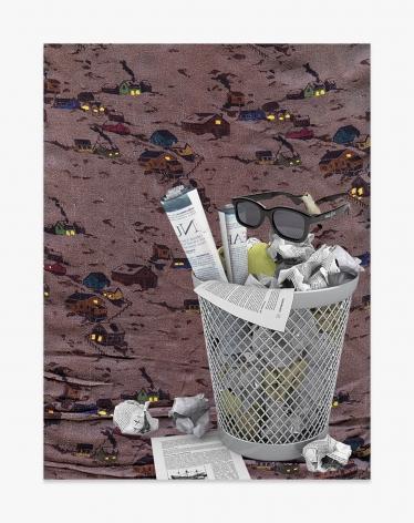 Asha Schechter Picture 058 (Waste Paper Basket, RealD 3D Glasses, Hummingbird Pose1, Peter Jensen Silk Blouse from Jutte, A/W 2009)