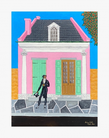 Painting by Andrew LaMar Hopkins titled Creole Dandy