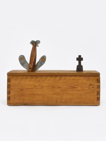 """H.C. Westermann Untitled (""""Walnut Death Ship in a Chestnut Box""""), 1974"""