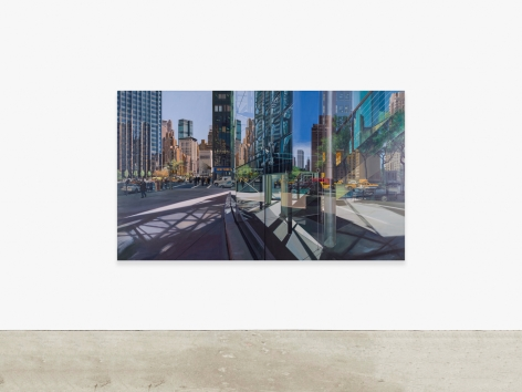 Painting by Richard Estes titled New York, from 1999