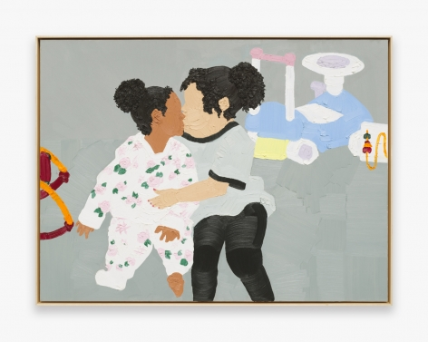 Painting by Shaina McCoy, titled The Kiss, from 2016
