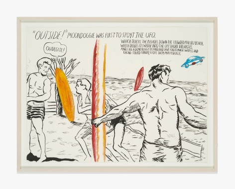 Raymond Pettibon No Title (Outside! moondoggie was…)