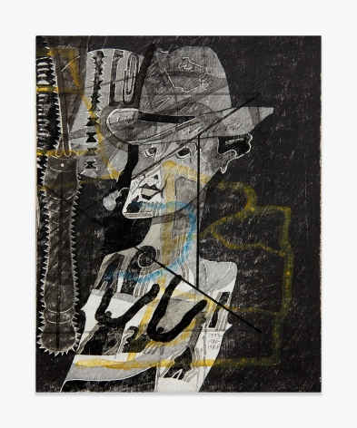 Ray Johnson Untitled (Tit girl / Cowboy with Potato Masher)