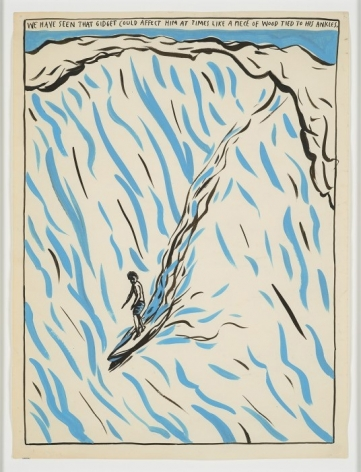 Raymond Pettibon, No Title (We have seen), Ink on paper, 1987; Courtesy of the Venus Over Manhattan Gallery,