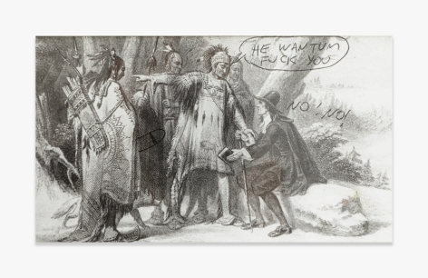 Mike Kelley   Roger Williams Buying Land from the Indians (from the Reconstructed History Series)