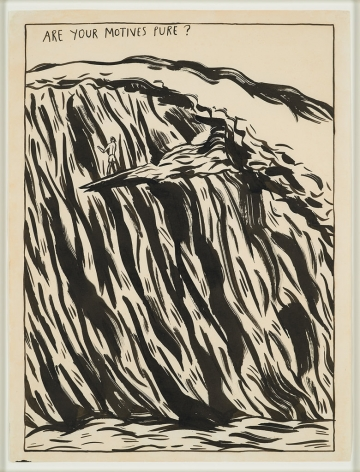 Raymond Pettibon, No Title (Are Your Motives), 1987