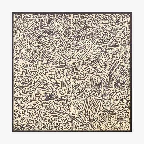 Keith Haring + LA II Untitled (two panel mural), 1982
