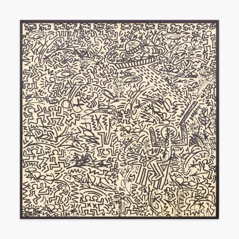 Keith Haring + LA II Untitled (two panel mural), 1982