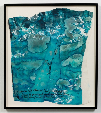 """""""Untitled (Here and there it),"""" 1995 by Raymond Pettibon. Photo by Adam Reich / Courtesy of the artist and Venus Over Manhattan."""