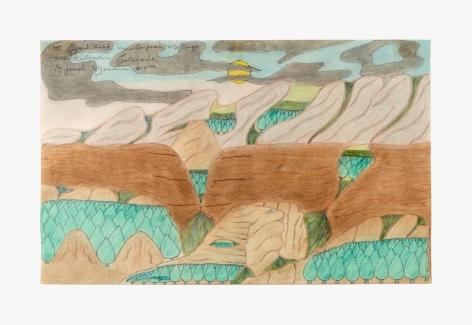 """Drawing by Joseph Yoakum titled """"Mt. Lizard Head in San Juan Mtn Range near Silverton Colorado"""" from 1970"""