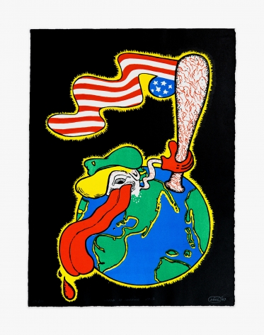 Peter Saul World of America No. 2, 1967