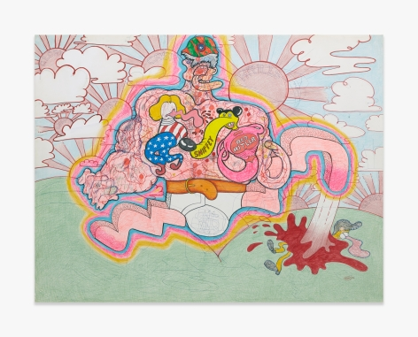 Peter Saul Red Hitler