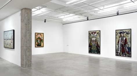 Installation view of Bernard Buffet: Paintings from 1956 to 1999, New York, Venus Over Manhattan, 2017