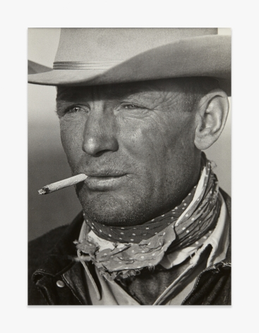 Leonard McCombe Portrait of Texas Cowboy Clarence Hailey Long
