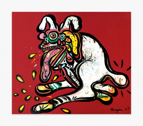 Maryan Dog on Red Background, 1967