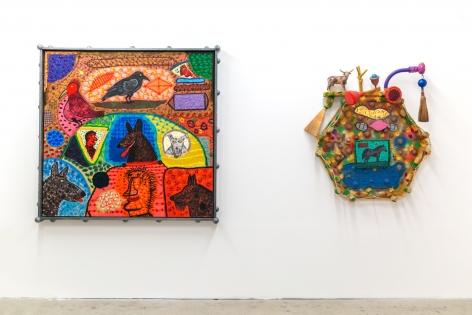 """Installation view of """"Roy De Forest,"""" Venus Over Manhattan, New York"""