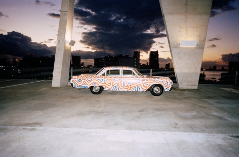 Piston Head Keith Haring Untitled (Car)