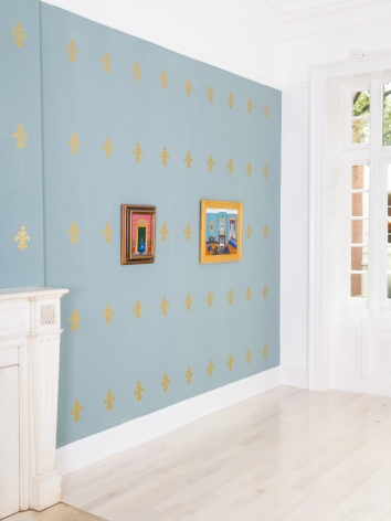 Installation view of Andrew LaMar Hopkins Exhibition at Venus Over Manhattan New York 2020