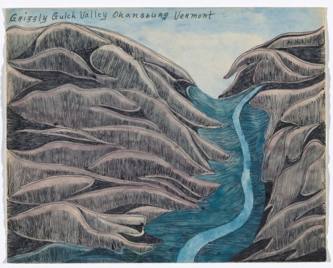 Joseph E. Yoakum,Grizzly Gulch Valley Ohansburg Vermont(n.d.). Courtesy of the Art Institute of Chicago.