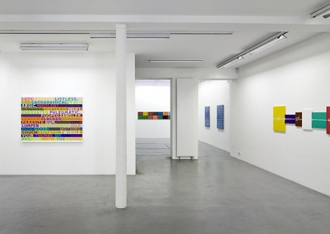 Mel Bochner, 1998-2007: Painting, sculpture and installation – installation view 1