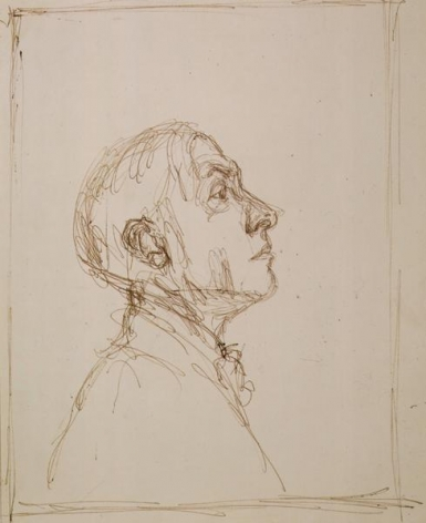 Alberto Giacometti Portrait de Pierre Reverdy de profil droit
