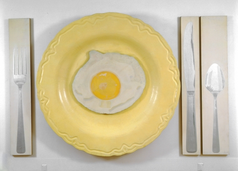 Egg on Plate with Knife, Fork, and Spoon, 1964