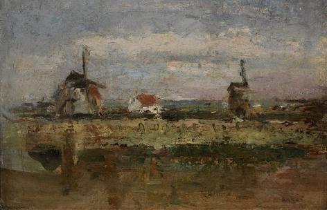 James Ensor Les deux moulins (The Two Windmills)