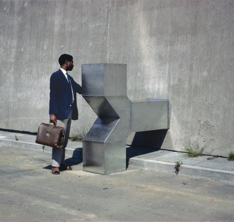 Charlotte Posenenske, Vierantrohr (Square Tube), Series D, 1967., Installation view,Offenbach, Germany, 1967.