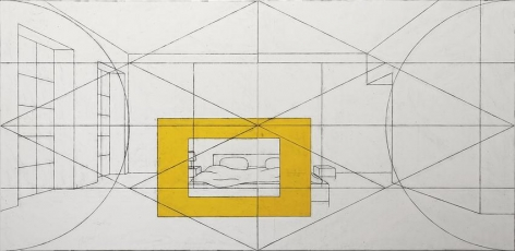 Matt Mullican Untitled (2x4 Interior Frame with Bed)