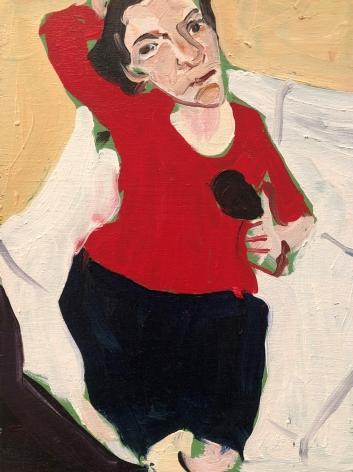 Chantal Joffe, Self-Portrait in Red