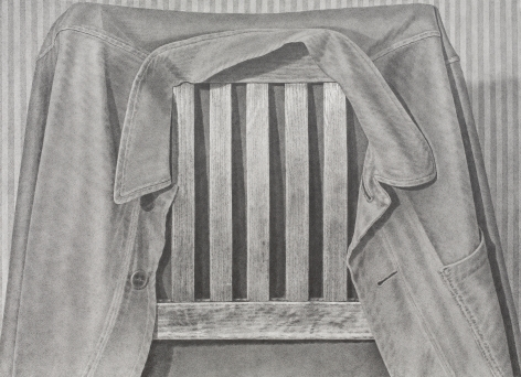 Chairback 2016 graphite on paper
