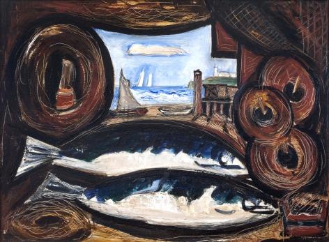 Marsden Hartley (1877-1943), New England Sea View – Fish House