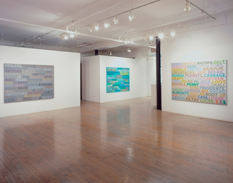 Mel Bochner: Thesaurus Paintings – installation view 2