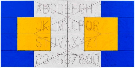 Matt Mullican​ Untitled (Alphabet in Language)