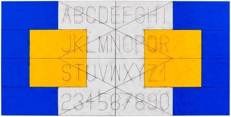 Matt Mullican Untitled (Alphabet in Language)